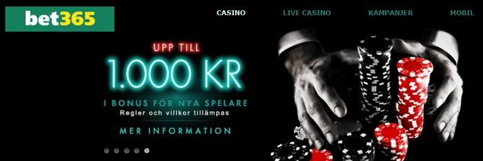 Bet365 casinobonus till nya spelare