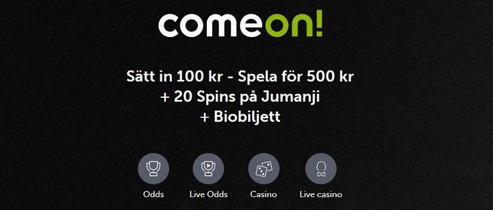 Hitta en riktigt bra casinobonus hos ComeOn