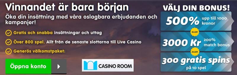 Välj din egen Casinoroom casinobonus 2018