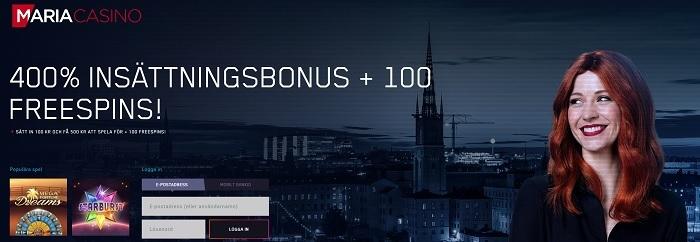 Maria Casino med Sveriges lägsta omsättningskrav
