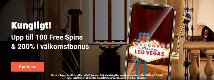 LeoVegas stora utbud av Casinobonusar 2019