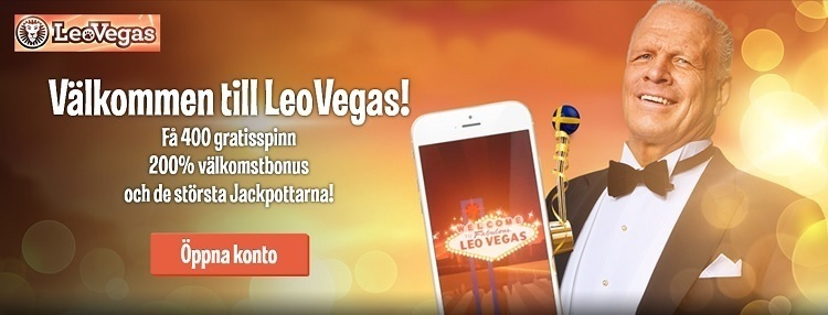 LeoVegas har Sveriges största casinobonus